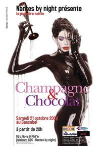 "Flyer soirée ""Champagne & Chocolat"", travail pour Nantes by Night"