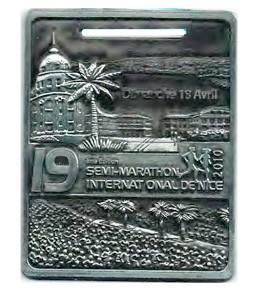 Médaille du Semi-Marathon International de Nice 2010 (Distinctio)