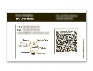 Carte de visite EPL Consultant, conseil aux professions libérales (verso)