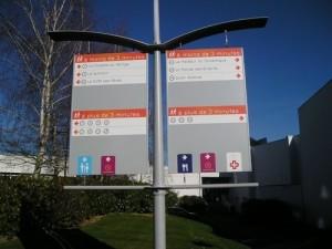 Voile directionnelle (1), Parc du Futuroscope
