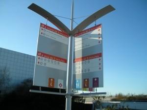 Voile directionnelle (2), Parc du Futuroscope