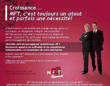 Annonce-presse MFT Ressources, Agence conseil Seize